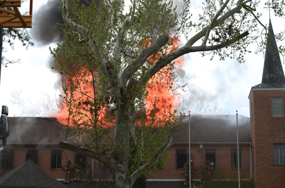Heights Presbyterian Church Fire
